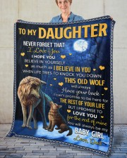 """Never Forget That I Love You Dad To Daughter Fleece Blanket - 50"""" x 60"""" aos-coral-fleece-blanket-50x60-lifestyle-front-02"""