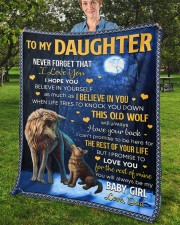 """Never Forget That I Love You Dad To Daughter Fleece Blanket - 50"""" x 60"""" aos-coral-fleece-blanket-50x60-lifestyle-front-02b"""