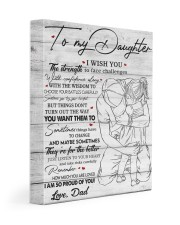 I Wish U Strength To Face Challenges To Daughter 11x14 Gallery Wrapped Canvas Prints front