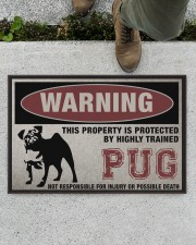 """PUG this property is protected Doormat 22.5"""" x 15""""  aos-doormat-22-5x15-lifestyle-front-01"""