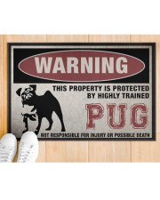"""PUG this property is protected Doormat 22.5"""" x 15""""  aos-doormat-22-5x15-lifestyle-front-03"""
