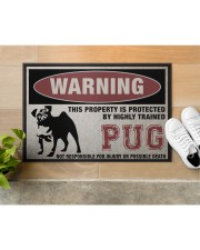 """PUG this property is protected Doormat 22.5"""" x 15""""  aos-doormat-22-5x15-lifestyle-front-12"""