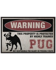"""PUG this property is protected Doormat 22.5"""" x 15""""  front"""