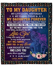 """Little Girl Yesterday Friend Today-Mom To Daughter Fleece Blanket - 50"""" x 60"""" front"""