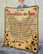 """We Both Love The Same Man To Daughter-In-Law Fleece Blanket - 50"""" x 60"""" aos-coral-fleece-blanket-50x60-lifestyle-front-02"""