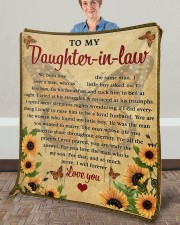 """We Both Love The Same Man To Daughter-In-Law Fleece Blanket - 50"""" x 60"""" aos-coral-fleece-blanket-50x60-lifestyle-front-02a"""
