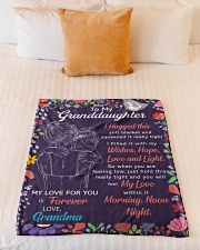 """I Hugged This Soft Blanket Gm To Granddaughter Small Fleece Blanket - 30"""" x 40"""" aos-coral-fleece-blanket-30x40-lifestyle-front-04"""