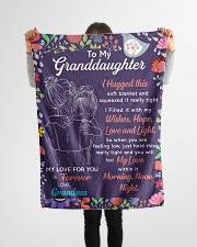 """I Hugged This Soft Blanket Gm To Granddaughter Small Fleece Blanket - 30"""" x 40"""" aos-coral-fleece-blanket-30x40-lifestyle-front-14"""