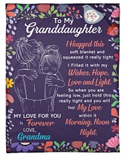 """I Hugged This Soft Blanket Gm To Granddaughter Small Fleece Blanket - 30"""" x 40"""" front"""