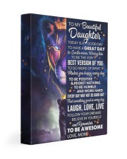 Today Is A Good Day Have Great Day Mom To Daughter 11x14 Gallery Wrapped Canvas Prints front