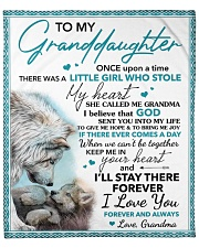 """Once Upon A Time Grandma To Grand Daughter Fleece Blanket - 50"""" x 60"""" front"""