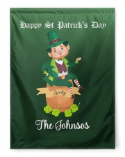 """The Johnsos Happy Patrick's Day 29.5""""x39.5"""" House Flag front"""