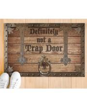 """Definitely Not A Trap Door Doormat 22.5"""" x 15""""  aos-doormat-22-5x15-lifestyle-front-03"""