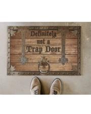 """Definitely Not A Trap Door Doormat 22.5"""" x 15""""  aos-doormat-22-5x15-lifestyle-front-04"""