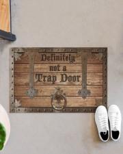 """Definitely Not A Trap Door Doormat 22.5"""" x 15""""  aos-doormat-22-5x15-lifestyle-front-07"""