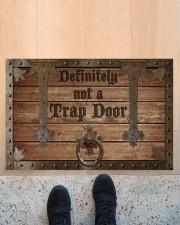 """Definitely Not A Trap Door Doormat 22.5"""" x 15""""  aos-doormat-22-5x15-lifestyle-front-10"""