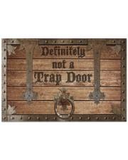 """Definitely Not A Trap Door Doormat 22.5"""" x 15""""  front"""