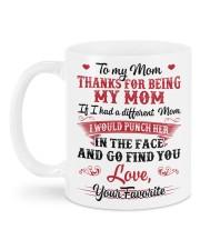 Thanks for being my mom Mug back