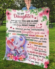 """Never Feel That U Are Alone Mom To Daughter Fleece Blanket - 50"""" x 60"""" aos-coral-fleece-blanket-50x60-lifestyle-front-02b"""