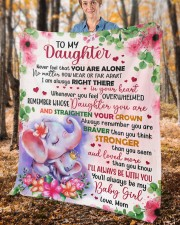 """Never Feel That U Are Alone Mom To Daughter Fleece Blanket - 50"""" x 60"""" aos-coral-fleece-blanket-50x60-lifestyle-front-02c"""