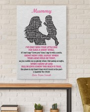 To Mom I've Only Been Your Little One Custom Name 24x36 Gallery Wrapped Canvas Prints aos-canvas-pgw-24x36-lifestyle-front-17