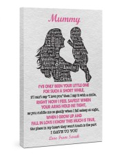 To Mom I've Only Been Your Little One Custom Name 24x36 Gallery Wrapped Canvas Prints front