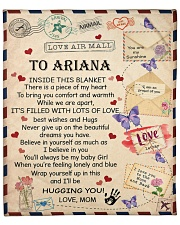 """Personalized Inside This Blanket Mom To Daughter Fleece Blanket - 50"""" x 60"""" front"""