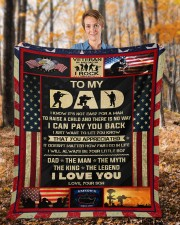 """I Know It's Not Easy For A Man Raise Child-To Dad Fleece Blanket - 50"""" x 60"""" aos-coral-fleece-blanket-50x60-lifestyle-front-01b"""