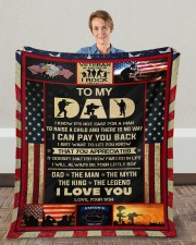 """I Know It's Not Easy For A Man Raise Child-To Dad Fleece Blanket - 50"""" x 60"""" aos-coral-fleece-blanket-50x60-lifestyle-front-01c"""