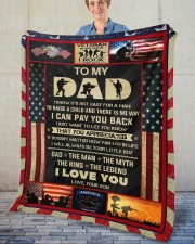 """I Know It's Not Easy For A Man Raise Child-To Dad Fleece Blanket - 50"""" x 60"""" aos-coral-fleece-blanket-50x60-lifestyle-front-02"""