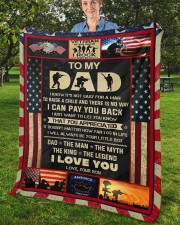 """I Know It's Not Easy For A Man Raise Child-To Dad Fleece Blanket - 50"""" x 60"""" aos-coral-fleece-blanket-50x60-lifestyle-front-02b"""