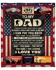 """I Know It's Not Easy For A Man Raise Child-To Dad Fleece Blanket - 50"""" x 60"""" front"""