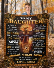 """Once Upon A Time Was A Little Girl Mom To Daughter Fleece Blanket - 50"""" x 60"""" aos-coral-fleece-blanket-50x60-lifestyle-front-01b"""