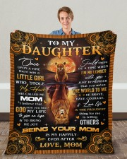 """Once Upon A Time Was A Little Girl Mom To Daughter Fleece Blanket - 50"""" x 60"""" aos-coral-fleece-blanket-50x60-lifestyle-front-01c"""