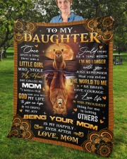"""Once Upon A Time Was A Little Girl Mom To Daughter Fleece Blanket - 50"""" x 60"""" aos-coral-fleece-blanket-50x60-lifestyle-front-02b"""