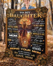 """Once Upon A Time Was A Little Girl Mom To Daughter Fleece Blanket - 50"""" x 60"""" aos-coral-fleece-blanket-50x60-lifestyle-front-02c"""