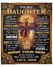 """Once Upon A Time Was A Little Girl Mom To Daughter Fleece Blanket - 50"""" x 60"""" front"""