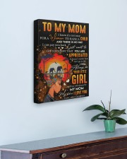 It's Not Easy For A Woman To Raise A Child To Mom 16x20 Gallery Wrapped Canvas Prints aos-canvas-pgw-16x20-lifestyle-front-01