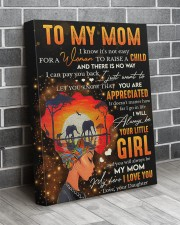 It's Not Easy For A Woman To Raise A Child To Mom 16x20 Gallery Wrapped Canvas Prints aos-canvas-pgw-16x20-lifestyle-front-12