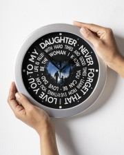 Never Forget That I Love You  Dad To Daughter Wall Clock aos-wall-clock-lifestyle-front-05