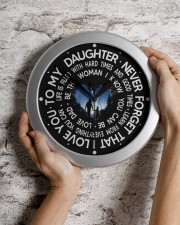 Never Forget That I Love You  Dad To Daughter Wall Clock aos-wall-clock-lifestyle-front-07