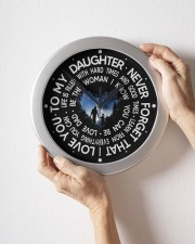 Never Forget That I Love You  Dad To Daughter Wall Clock aos-wall-clock-lifestyle-front-09
