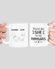 Personalized Name You're The She To My Nanigans Mug ceramic-mug-lifestyle-41