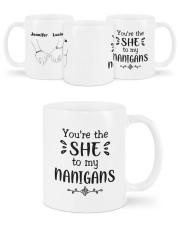 Personalized Name You're The She To My Nanigans Mug ceramic-mug-lifestyle-45