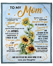 """For All The Times That I Forgot To Thank U To Mom Fleece Blanket - 50"""" x 60"""" front"""