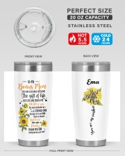 Personalized U May Not Have Given Me To Bonus Mom 20oz Tumbler aos-20oz-tumbler-lifestyle-front-60