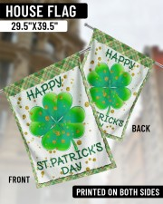 """Shamrock Happy Patrick's Day 29.5""""x39.5"""" House Flag aos-house-flag-29-5-x-39-5-ghosted-lifestyle-02"""