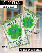 """Shamrock Happy Patrick's Day 29.5""""x39.5"""" House Flag aos-house-flag-29-5-x-39-5-ghosted-lifestyle-07"""