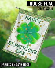"""Shamrock Happy Patrick's Day 29.5""""x39.5"""" House Flag aos-house-flag-29-5-x-39-5-ghosted-lifestyle-13"""