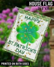 """Shamrock Happy Patrick's Day 29.5""""x39.5"""" House Flag aos-house-flag-29-5-x-39-5-ghosted-lifestyle-14"""